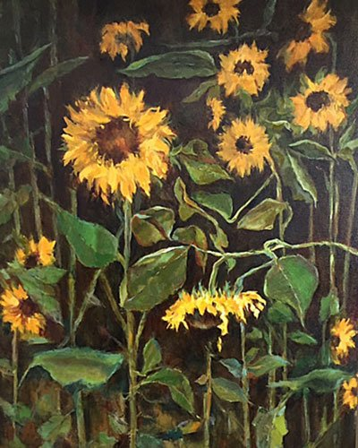 full moon sunflowers