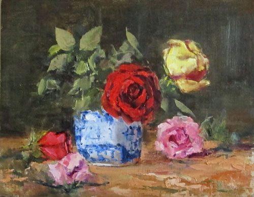 spring roses artwork