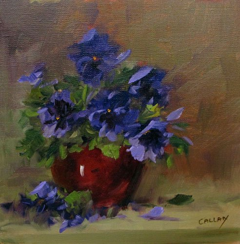 summer pansies art